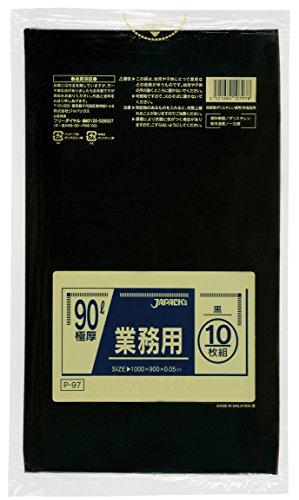 【業務用】 ジャパックス 90L 極厚 黒 10枚