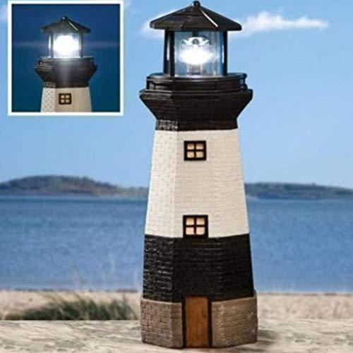 HIGHKAS Solarbetriebene Leuchtturmlampe Dekorative Turmleuchte für die Gartendekoration im Innenhof (zufällige Farbe)