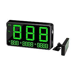kingneed Original Universal GPS Head Up Display Speedometer Odometer Car Digital Speed Display MPH Over Speed Alarm Car Clock for All Vehicles C60/C60S/C80/C90 (C80)
