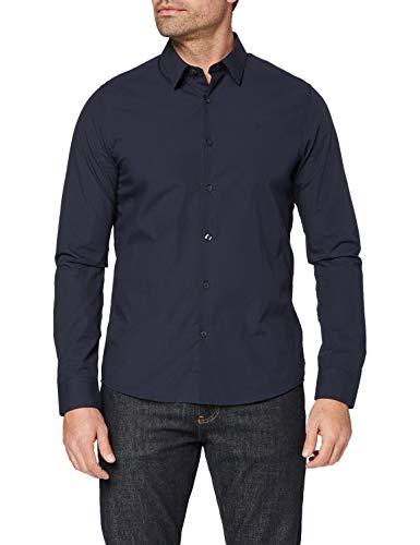 Calvin Klein CKJ Chest Logo Slim Fit Shirt Camicia, Cielo Notturno, XS/Alto Uomo