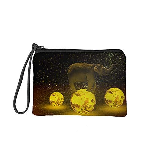 Amzbeauty Mini bolsa de la cartera de la lona del maquillaje de las bolsas de la moneda con la cremallera, 7x5.5inch