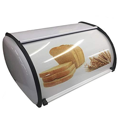 Mooyod Petite boîte à pain type tambour anti-salissure, technologie anti-empreintes digitales, en acier inoxydable, ustensiles de cuisine