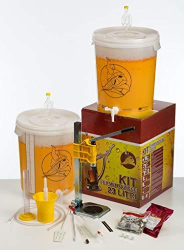 Beer & Wine Kit FERMENTAZIONE Birra Platinum + 3 Malti Premium + SCOLABOTTIGLIE A Vite in Omaggio