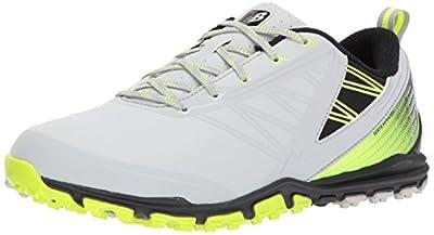 New Balance Men's Minimus SL Waterproof Spikeless Comfort Golf Shoe, 8.5 2E 2E US, grey/green