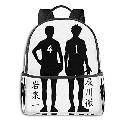 XCNGG Anime Haikyuu!! Aobajousai Iwaizumi Oikawa Classic Student School Bag School Cycling Leisure Travel Camping Outdoor Backpack