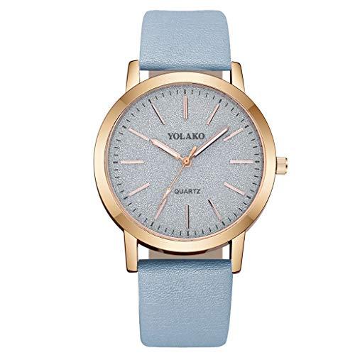 Bokeley Retro Wristwatch, Women's Casual Analog Quartz Watch Clock Leather Band Wrist Watch (G)