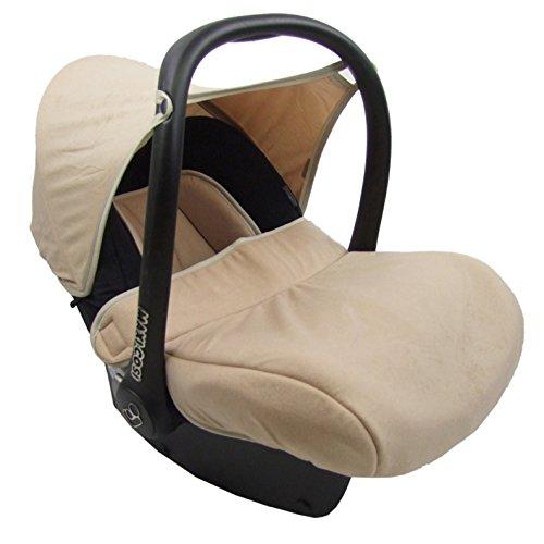 BAMBINIWELT kompl. Ersatzbezug für Maxi-Cosi CabrioFix 7-tlg, Bezug für Babyschale, Sommerbezug Cabrio Fix SCHWARZ/BEIGE XX