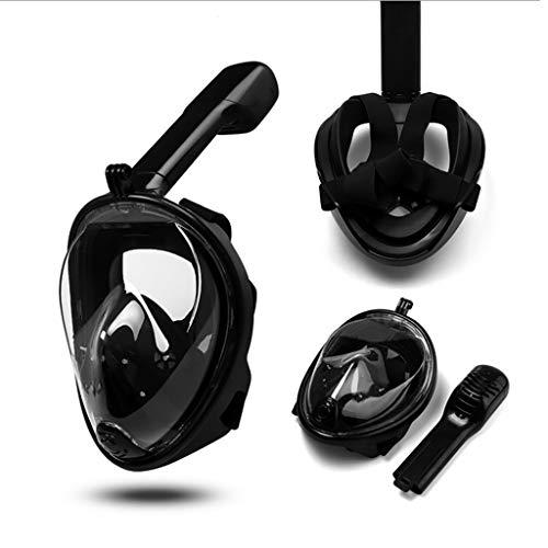 QHJ Schnorchel, 2019 Upgrade G2 Full Face Schnorchel Maske mit neuesten Dry Top System, Faltbare 180 Grad Panorama Blick Schnorchelmaske mit Kamera Halterung | Sichere Atmung,