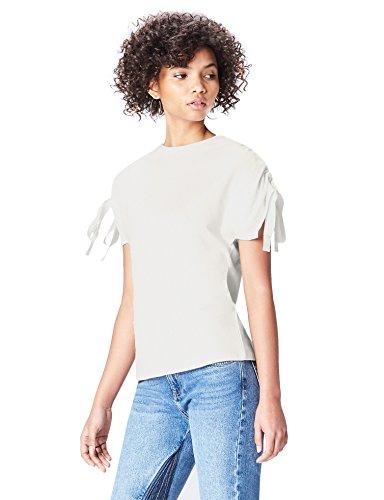Marchio Amazon - find. T-shirt Girocollo Donna, Bianco (White), 40, Label: XS