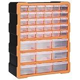 vidaXL Organizador Multicajones con 39 Cajones Herramientas Armario Almacenamiento Pared Taller Caja...