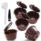 ZYCX123 Filtro de café cápsulas de café Plástico Filtro Filtro Copas Recargable Cuchara Cepillo para Dolce Gusto Máquinas Brown Productos para el Hogar