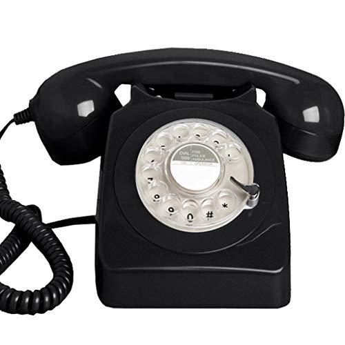 DHSAFG Vintage Rotary Phone Draaibare telefoon Retro kantoor Home Hotel Vaste telefoon metalen bel (Groen) blue