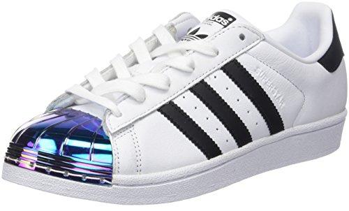 adidas Damen Superstar Metal Toe Fitnessschuhe, Weiß (Ftwbla/Negbás/Supcol 000), 38 2/3 EU