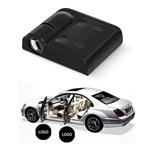 2pcs Wireless-LED-Auto-Tür-Licht Courtesy Logo-Geist-Schatten-Lampe for alle Modelle Projektor-Licht (Size : for Hyundai)