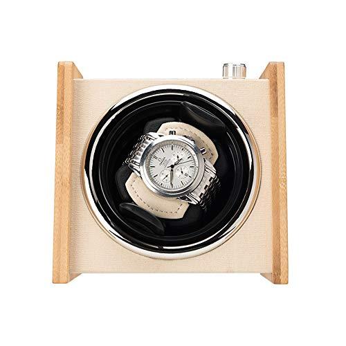 Zhicaikeji Reloj de pulsera automático con mecanismo de rotación, con motor silencioso y 4 modos de rotación para la mayoría de relojes de pulsera (color de madera, tamaño: B)