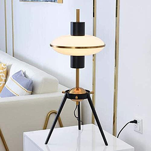 WRISCG Table Lamps White Glass Lamp Light Luxury Hotels Wrought Iron Desk Lamp Sales Offices In The Nordic Minimalist Living Room Decorative Table Lamp 35 * 65CM