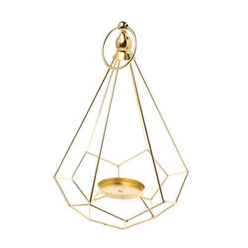 Manyao Vintage Hollow Kerzenhalter- Kerzenständer- Teelicht Hängende Laterne, Diamantform, 29cmx18cm, Home Hochzeit Dekoration.