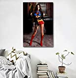 NFGGRF Sexy Women Poster Cosplay Wall Art Megan Fox Super Girl Body Art Prints Canvas Art Paintings for Bedroom Home Picture Wall Decor 50x85cm-Unframed
