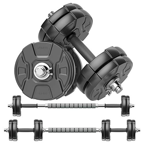 RUNWE Adjustable Dumbbells Barbell Set Free Weight Set with Steel Connector at Home/Office/Gym Fitness Workout Exercises Training AllPurpose for Men/Women/Beginner/Pro40 lbs2 Dumbbells in Total