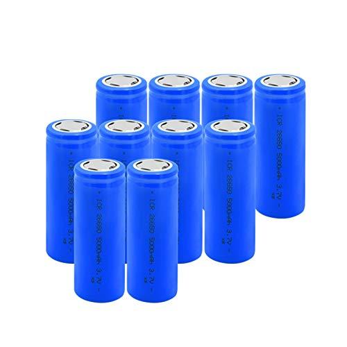 HTRN 26650 BateríAs De Iones De Litio De Litio De 3.7v 5000mah, Azul Plano Recargable para Batería De Faro Antorcha 10pieces