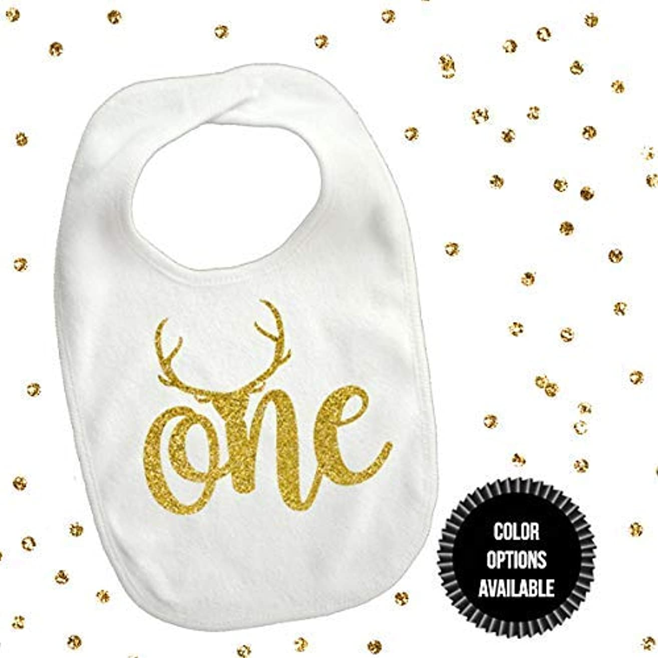 1 piece one deer antler bib toddler boy girl for first birthday gift cake smash photo prop boho theme