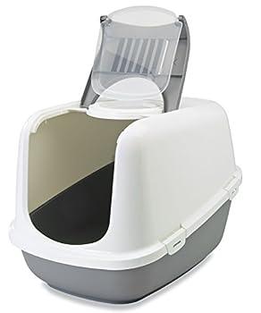 XXL Bac à litière pour Chat Nestor Jumbo blanc-gris spécialement pour grand races de chat