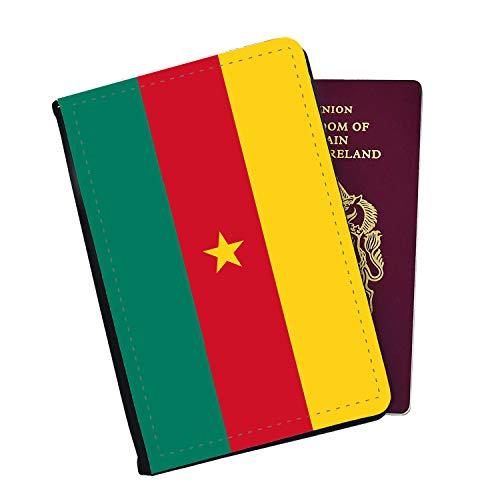 Fahne Kamerun Reisepasshülle und Gepäckanhänger, Schwarz (Schwarz) - PP327