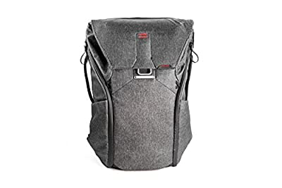 Peak Design Everyday Backpack Charcoal – Case (Camera Backpack, Universal, Charcoal, Canvas, Synthetic, 40.6cm (16), 510mm) by Peak Design
