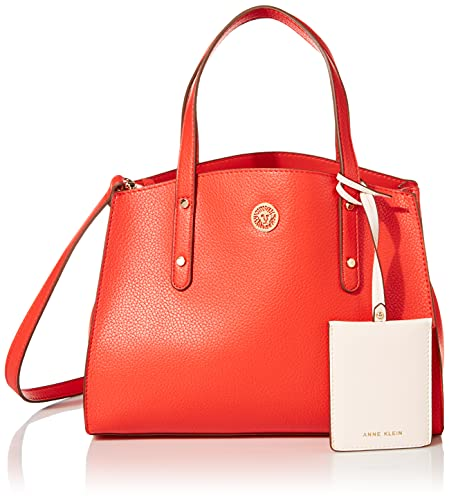 Anne Klein Triple Compartment Satchel, Bolso con Tres Compartimentos para Mujer, Sirena, Large