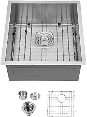 "Logmey Undermount Kitchen Sink Stainless Steel Single Bowl (19""×20""×9"")"