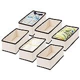 mDesign Juego de 6 Cajas de almacenaje para habitación Infantil o baño –...