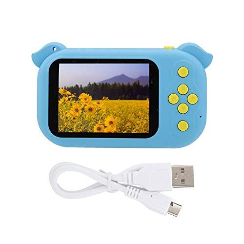 【Venta del día de la Madre】 AMONIDA Cámara Digital, cámara, Control con una Sola tecla Carga portátil Inteligente Inteligente sin Enfoque USB para niños,(Blue)