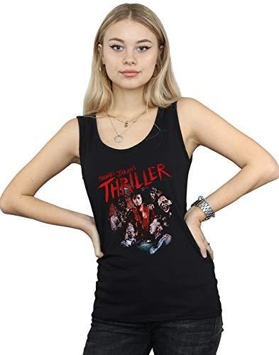 Michael Jackson Mujer Thriller Ghouls Camiseta Sin Mangas Negro XX-Large