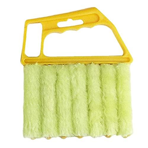 Microfibra cepillo pinceladores ventana limpiador de polvo Herramientas de la casa de mano amarillo para la limpieza de tetas