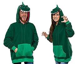 4. Funziez! T Rex Fleece Dinosaur Hoodie