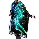 Colored Smoke Womens weicher Kaschmir-Wollwickelschal Fashion Long Shawl Winter Warm