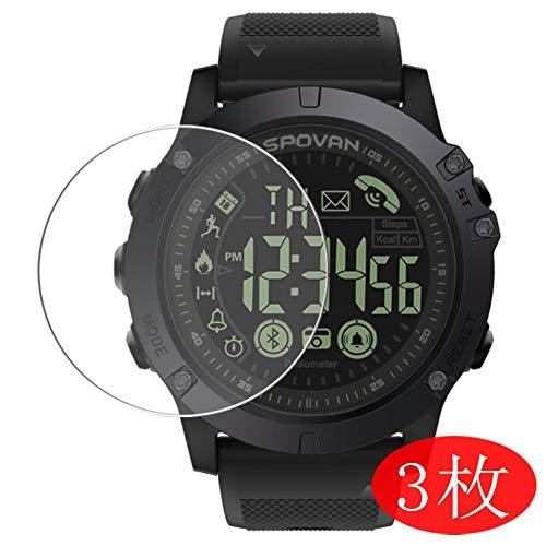 VacFun 3 Piezas HD Claro Protector de Pantalla para Smartwatch Smart Watch SPOVAN PR1, Screen Protector Sin Burbujas Película Protectora (Not Cristal Templado)