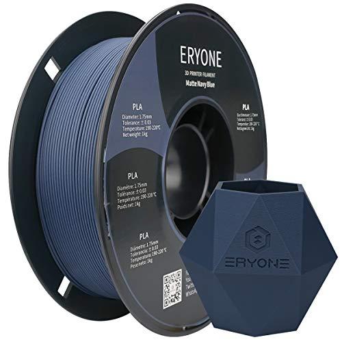 Eryone Matte PLA filament 1.75 mm, filament PLA for 3D printers, dimensional accuracy +/- 0.03 mm, 1 kg/spool, matt navy blue