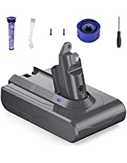 FirstPower 21.6V 4000mAh Replacement Battery Compatible with Dyson V6 Series DC58 DC59 DC61 DC62 650 770 880 SV03 SV04 SV05 SV06 SV07 SV09 with 1 Pre-Filter, 1 Post Filter, 1 Screwdriver and 2 Screws