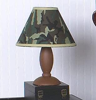 Sweet Jojo Designs Lamp Shade, Green Camo Army Military Camouflage