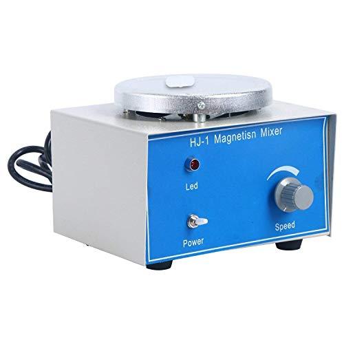 HUKOER Agitador magnético HJ-1 con barras magnéticas de mezcla, 8 x 25 mm, 1000 ml, 2400 rpm