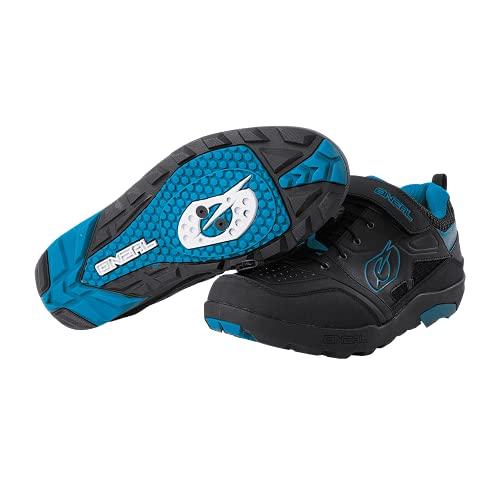 O'Neal   Scarpa da Ciclismo   Mountainbike MTB DH FR Downhill Freeride   Ottimo Grip, Suola SPD, Sistema di Allacciatura Rapida, Traspirante   Traverse SPD Shoe Unisex   Adulto   Nero-Blu   Taglia 42