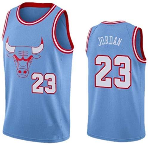 WSWZ Camiseta De Baloncesto De La NBA - Michael Jordan NBA Camiseta para Hombre 23# Chicago Bulls - Chalecos Cómodos Casuales Camisetas Deportivas Camisetas Sin Mangas,A,S(165~170CM/50~65KG)