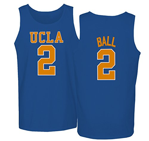 KINGS SPORTS UCLA 2017 Bruins Lonzo Ball 2 College Basketball Men's Tank Top (Royal,S)