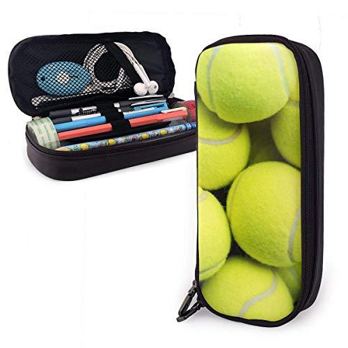 Estuche Escolar de Gran Capacidad, Bolsa de Lápiz Organizador para Material Papelería con Cremallera Doble Pelotas de tenis para Hombre Mujer Estudiante en Escuela Oficina