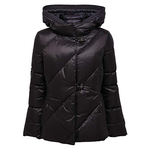 Fay 1292AC Giubbotto Donna Black/Blue Piumino Corto Jacket Women [XS]