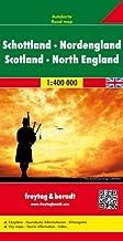 Escocia y norte de Inglaterra, mapa de carreteras. Escala 1:400.000. Freytag & Berndt.: Wegenkaart 1:400 000 (Auto karte)