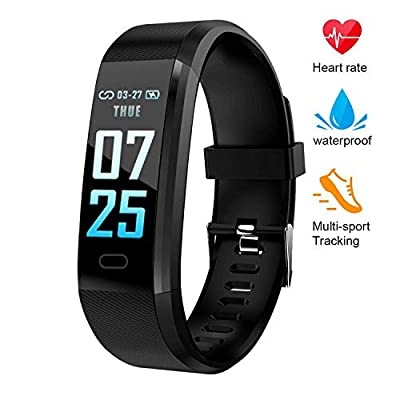 XZHI Fitness Tracker HR,Color Screen Activity Tracker Watch with Blood Pressure, IP67 Waterproof Smart Band with Heart Rate Sleep Monitor Calorie Counter Pedometer for Men, Women and Kids