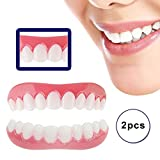 ISCTKZDPC Instant Smile Veneers Upper Lower Snap on Cosmetic Teeth Makeover Set Secure Confident Smile False Tooth Replacement