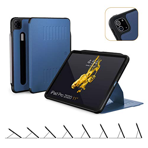 ZUGU CASE 2020 iPad Pro 2nd Gen Alpha Case w/Convenient Magnetic Stand - Thin Profile, Automatic Sleep/Wake - Navy Blue, 11 Inches